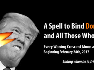 Witches plan to curse President Trump.